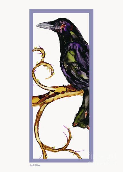 Painting - Raven Swirls by Jan Killian