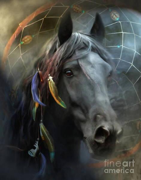 Wall Art - Digital Art -  Raven by Trudi Simmonds