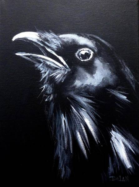 Painting - Raven Warning by Pat Dolan