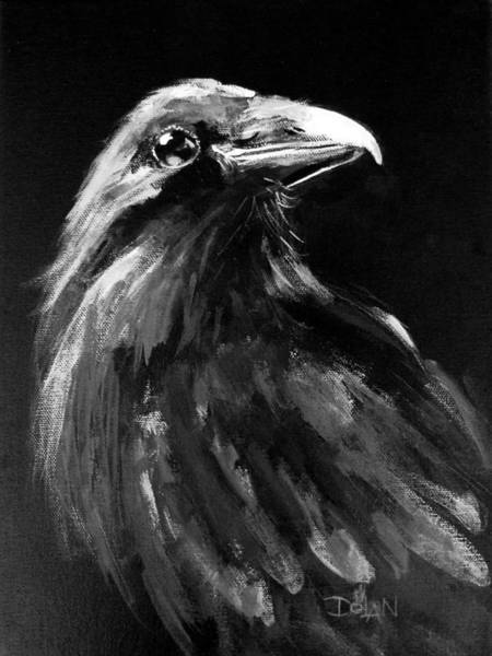 Painting - Raven Watching by Pat Dolan