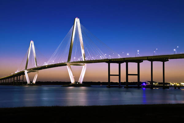 Photograph - Ravenel Bridge 2 by Bill Barber