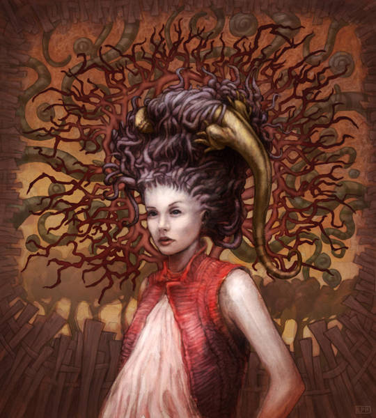 Tentacles Digital Art - Ravenous Pregnancy In Color by Ethan Harris
