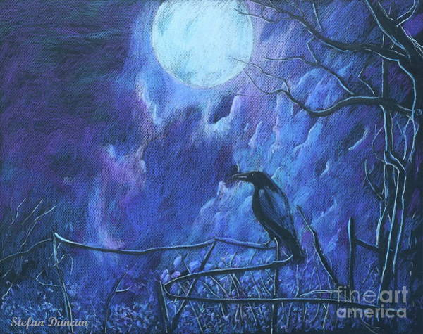 Painting - Raven's Night by Stefan Duncan