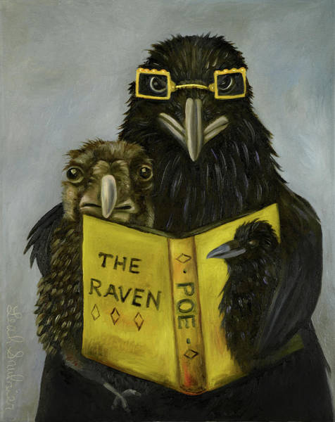 Wall Art - Painting - Ravens Read by Leah Saulnier The Painting Maniac