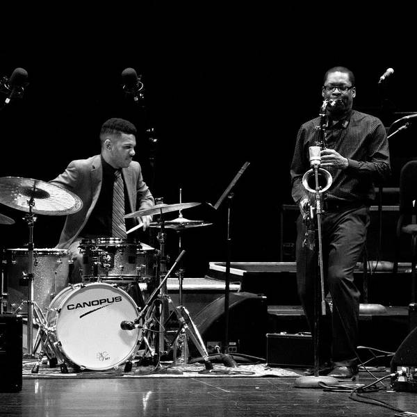 Photograph - Ravi Coltrane And Mark Whitfield Jr 3 by Lee Santa