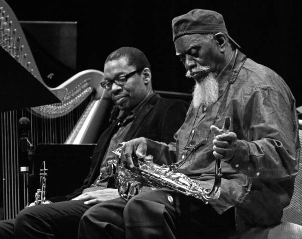 Photograph - Ravi Coltrane And Pharoah Sanders 4 by Lee Santa