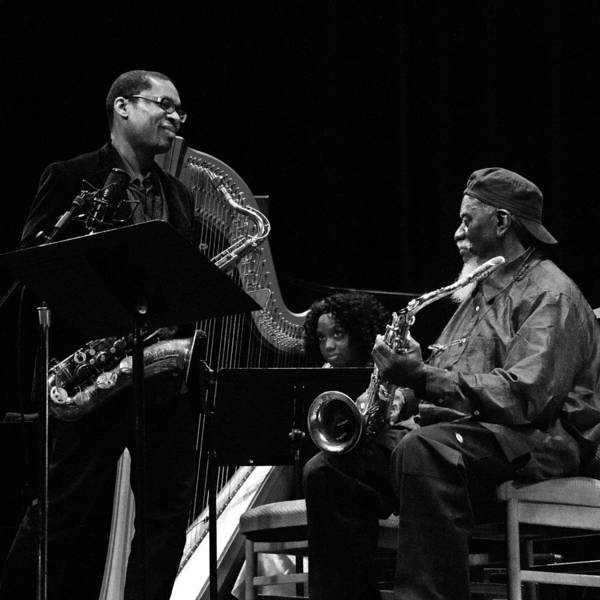 Photograph - Ravi Coltrane And Pharoah Sanders 6 by Lee Santa
