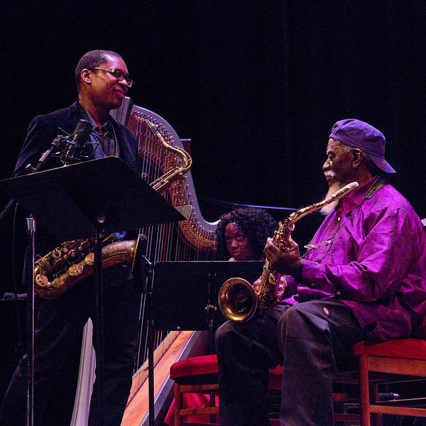 Photograph - Ravi Coltrane And Pharoah Sanders 7 by Lee Santa