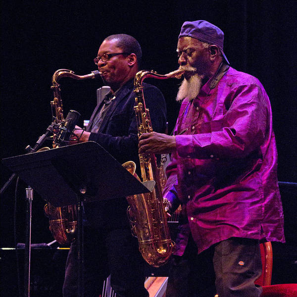 Photograph - Ravi Coltrane And Pharoah Sanders 9 by Lee Santa
