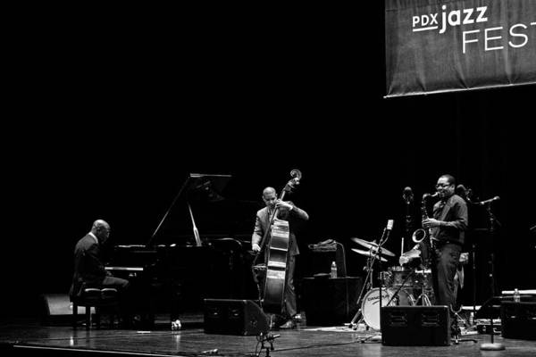 Photograph - Ravi Coltrane And The Orrin Evans Trio 6 by Lee Santa