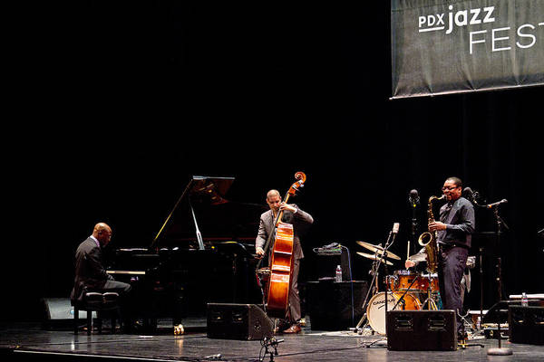 Photograph - Ravi Coltrane And The Orrin Evans Trio by Lee Santa