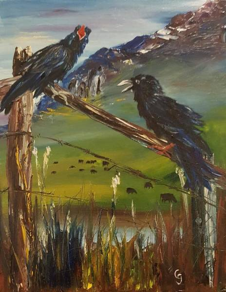 Painting - Ravin Ravens     #104 by Cheryl Nancy Ann Gordon