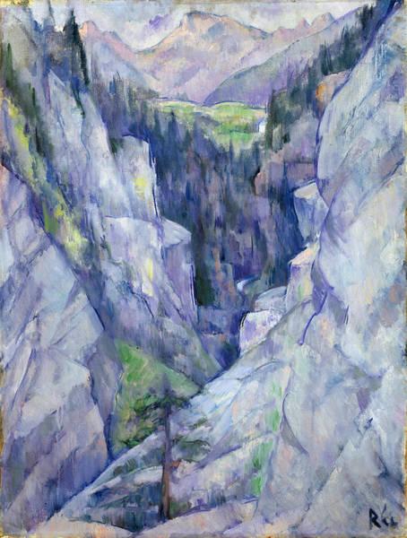 1921 Wall Art - Painting - Ravine At Pians by Anita Ree