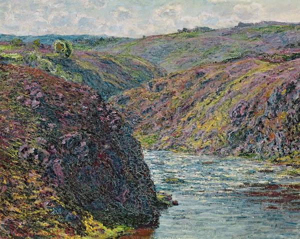 Wall Art - Painting - Ravines Of The Creuse At The End Of The Day by Claude Monet