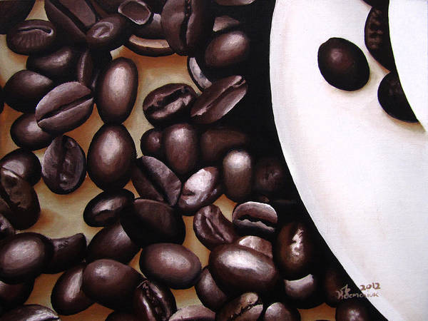 Umber Painting - Raw Caffeine by Kayleigh Semeniuk