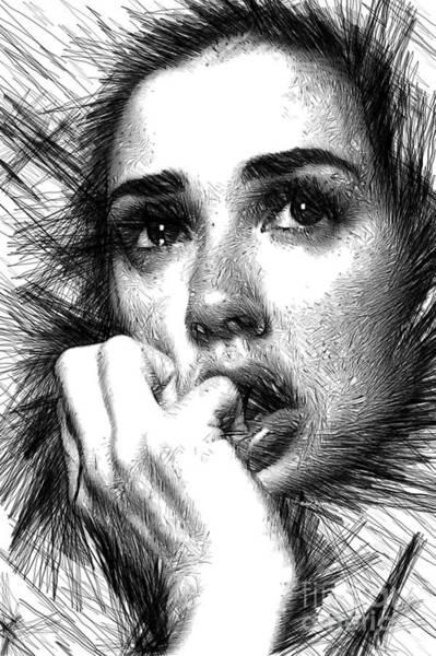Digital Art - Raw Emotions 1282 by Rafael Salazar