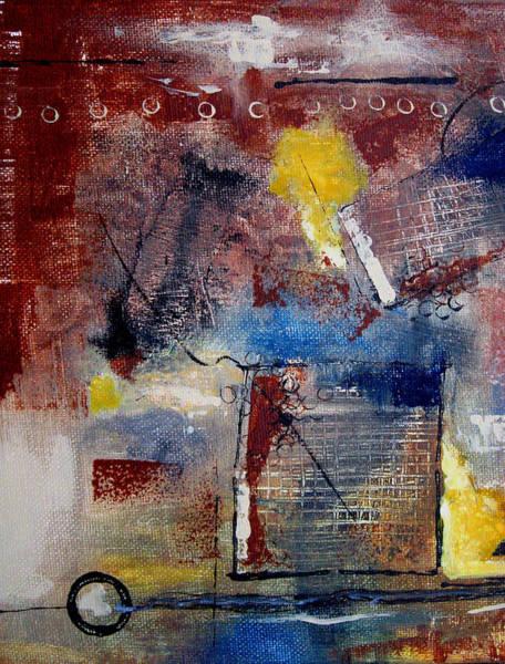 Irregular Painting - Raw Emotions II by Ruth Palmer