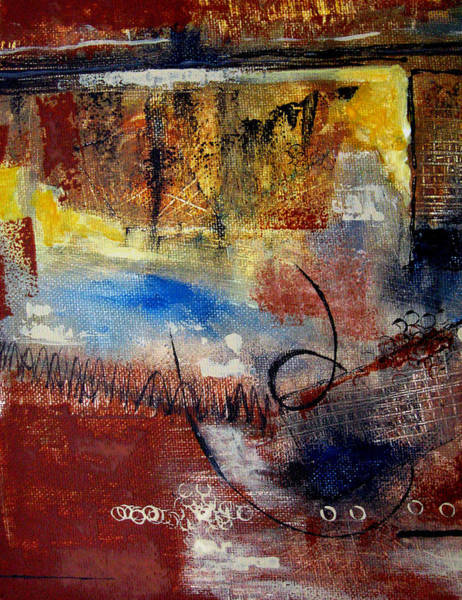 Gestural Painting - Raw Emotions by Ruth Palmer
