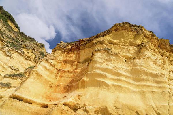 Photograph - Raw Geology - Curvy Ribs In Golden Yellow Ocher by Georgia Mizuleva