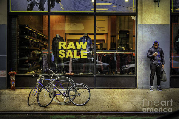 Photograph - Raw Sale Bicycles by Craig J Satterlee