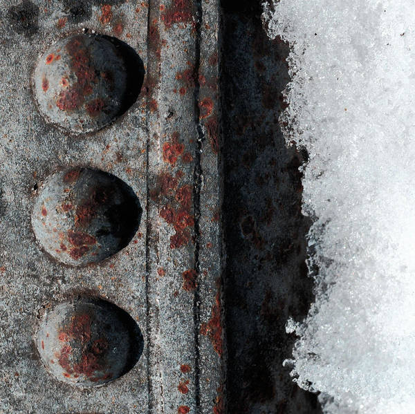 Cube House Wall Art - Photograph - Raw Steel...on Ice by Tom Druin