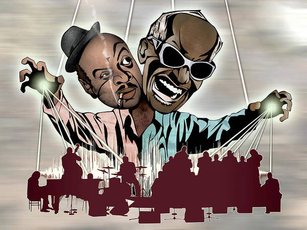 Wall Art - Drawing - Ray Charles And Count Basie - Reanimated by Sam Kirk