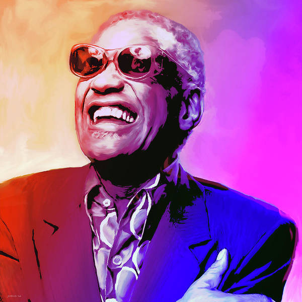 Rock Painting - Ray Charles by Greg Joens