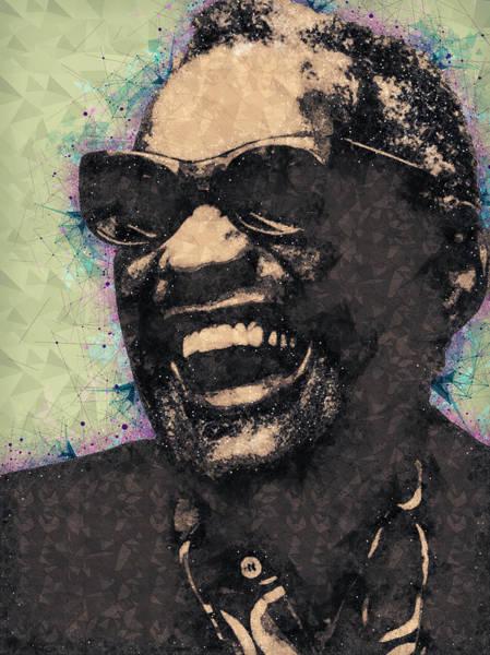 Wall Art - Mixed Media - Ray Charles Portrait by Studio Grafiikka