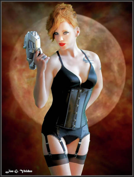 Photograph - Ray Gun And Fishnets by Jon Volden
