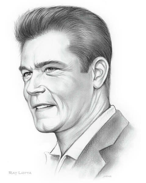 Movie Drawing - Ray Liotta by Greg Joens