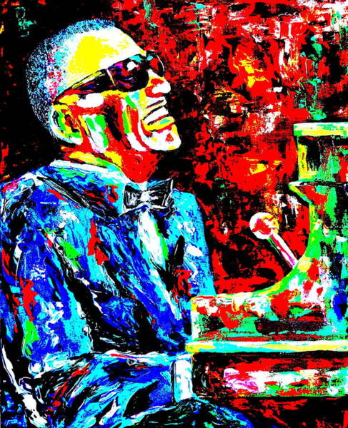 Piano Bar Painting - Ray by Mike OBrien