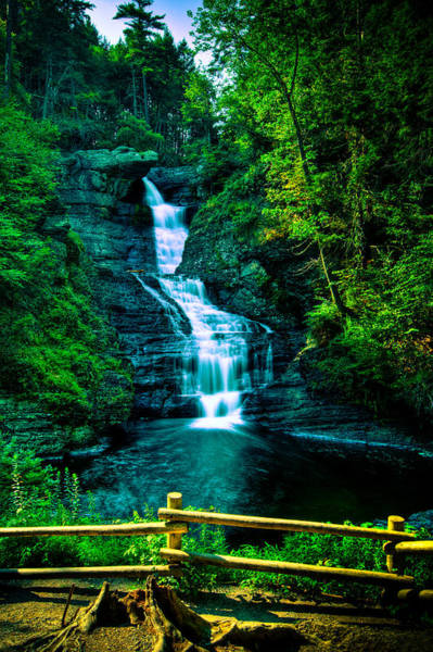 Poconos Wall Art - Photograph - Raymondskill Falls - Hdr by David Hahn