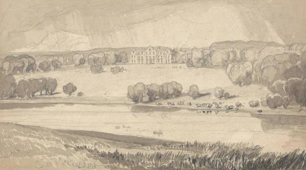 Drawing - Raynham Hall, Norfolk by John Sell Cotman
