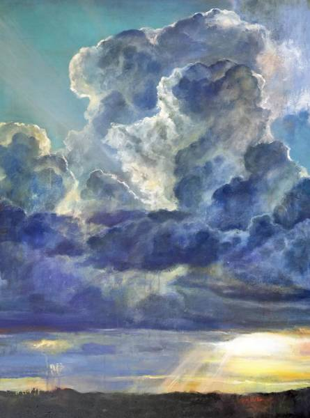 Texas Painting - Rays And Rain by Musetta Aponte