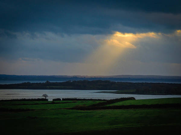 Photograph - Rays Of Hope  Over Ireland's Shannon Estuary by James Truett