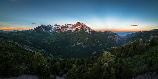Photograph - Rays Of Light Over Timpanogos by James Udall