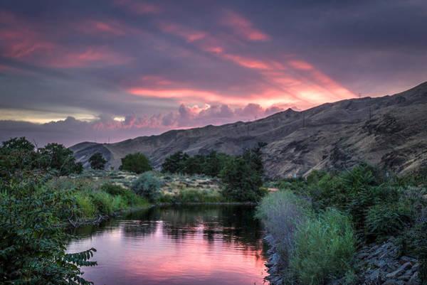Lewiston Photograph - Rays Of Sunset by Brad Stinson