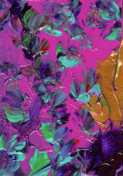 Painting - Razberry Ocean Of Butterflies by Nan Bilden