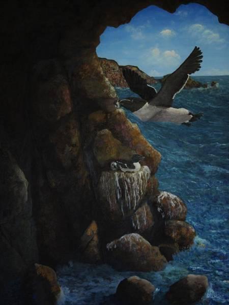 Razorbill Painting - Razorbills by Eric Petrie