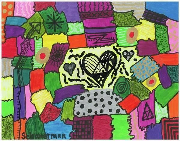 Drawing - Razzle Dazzle by Susan Schanerman