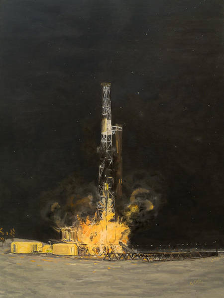 Oil Well Painting - Rbc Wild Well Control Red Boots Coots by Galen Cox