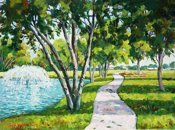 Country Club Painting - Rockford Country Club Golf Course by Ingrid Dohm