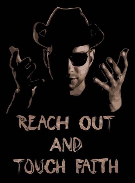 Reach Digital Art - Reach Out And Touch Faith Pop Art by Filip Hellman