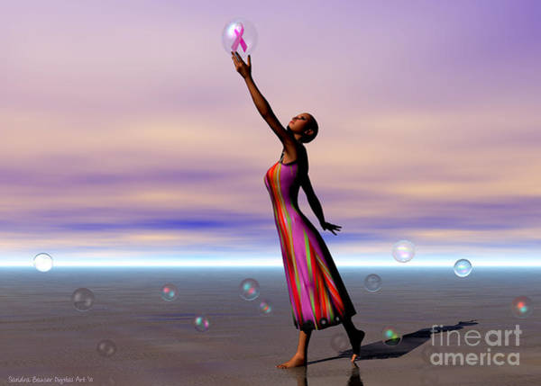 Wall Art - Digital Art - Reaching For A Cure by Sandra Bauser Digital Art