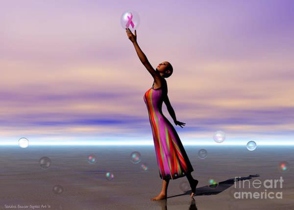 Digital Art - Reaching For A Cure by Sandra Bauser Digital Art