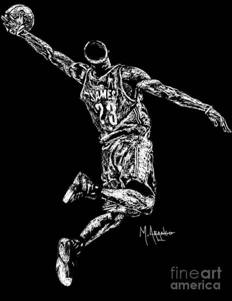 Gold Medal Drawing - Reaching For Greatness #23 by Maria Arango