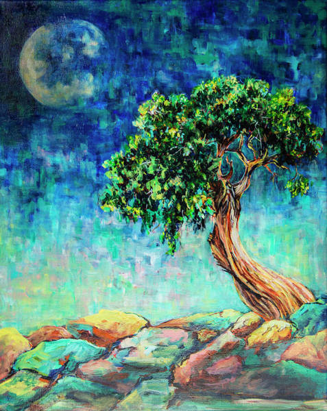Painting - Reaching For The Moon #1 by Sally Quillin