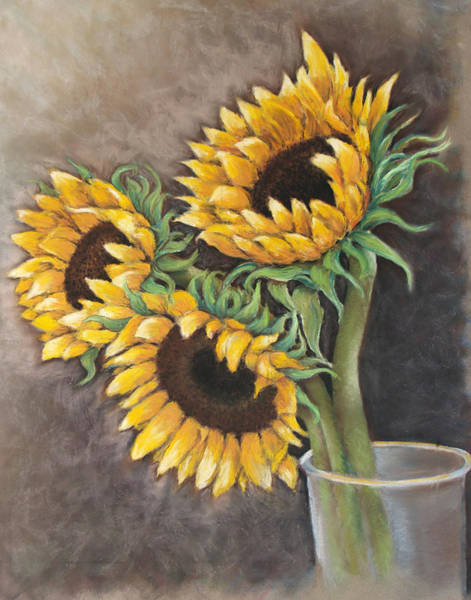 Painting - Reaching Sunflowers by Susan Jenkins