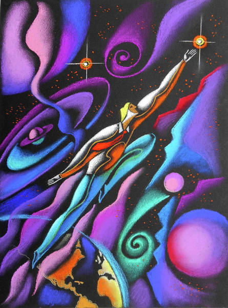 Businessman Painting - Reaching The Star by Leon Zernitsky