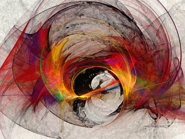 Warm Digital Art - Reaction Abstract Art by Karin Kuhlmann